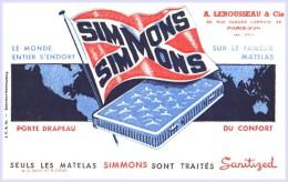 BUVARD :matelas SIMONS  Lerousseau Paris - Petite Déchirure - Papel Secante