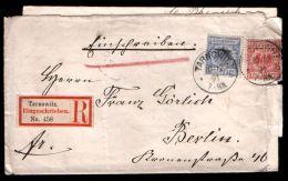 Germany 1891 R-cover Einschreiben Tarnowitz (Tarnow) - Lettres & Documents