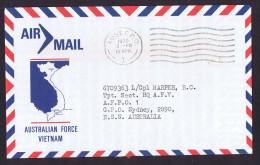 1970  Autralian Forces Vietnam Letter  AUST. F.P.O.. Cancel - 1966-79 Elizabeth II