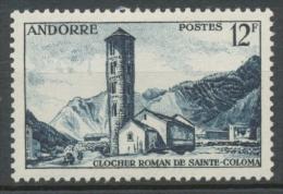 Andorre Français N°145, 12f. Bleu-noir NEUF** ZA145 - French Andorra