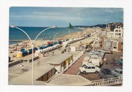 Cp , Automobile , CITROEN 2CV , Villers Sur Mer , La Plage , La Promenade , Voyagée 1968 , Cap 1904 - Voitures De Tourisme