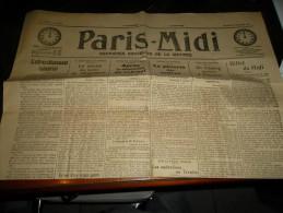 JOURNAL PARIS MIDI   VENDREDI 6 OCTOBRE 1916 - Journaux - Quotidiens