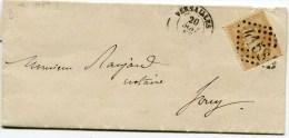 SEINE ET OISE De VERSAILLES LAC En Port Local Du 20/05/1868 Avec N°28 Oblitéré GC 4158 - Marcophilie (Lettres)