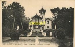 Cpa 44 St Brévin L'Océan, Chalet Alta Villa, Propriété Delhomme, 2 Femmes En Avant...., Carte Pas Courante - Saint-Brevin-l'Océan
