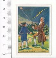 Image / Benjamin Franklin / ( Thème Cerf-volant Clef Foudre Electricité Paratonnerre )   / IM 30-KPA/8 - Nestlé
