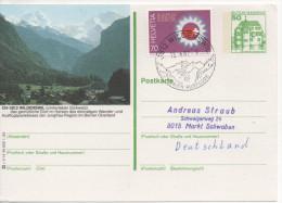 Nr. 3852,  Ganzsache Deutsche Bundespost,  Wilderswil, Schweiz - [7] Repubblica Federale