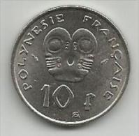 Polynesie Francaise French Polynesia 10 Francs 1975. - Polynésie Française