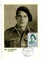 CARTE MAXIMUM / FRANCE N° 1158 /  FRED  SCAMARONI  / HEROS DE LA RESISTANCE / WWII / GUERRE 39-45 - Water
