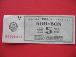 BON BENCIN 5 LITROV - Yugoslavia