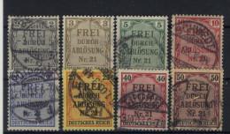 Deutsches Reich Dienst Michel No. 1 - 8 gestempelt used