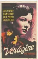 LOCANDINA CINEMA SPAGNA-VORAGINE -CON G.TIERNEY,R.CONTE, J. FERRER -ATTORI -FILM - Plakate & Poster