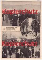 Original Zeitungsausschnitt - 1911 - Rodelsport In Und Um Berlin , Kreuzberg , Grunewald , Steglitz , Wintersport !!! - Wintersport