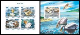 MALDIVES 2014 - Pelicans - YT 4561-4 + BF738; CV = 26 € - Pelikanen