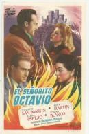 LOCANDINA CINEMA SPAGNA-EL SENORITO OCTAVIO -CON SAN MARTIN-M.MARTIN-E.ESPEJO -ATTORI -FILM - Plakate & Poster
