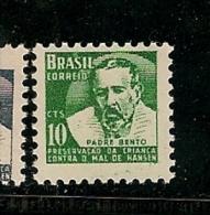 Brazil ** & Preservação Da Criança Contra O Mal De Hansen, Padre Bento 1958 (669) - Enfance & Jeunesse