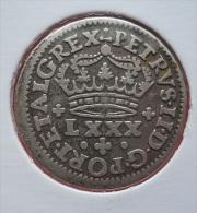 Portugal 100 Reis (Tostão) D. Pedro II Silver - Portugal