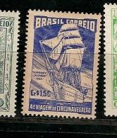 Brazil ** & A Viagem De Circunvalação, 4 Volta Ao Mundo, Almirante Saldanha 1953 (530) - Bateaux