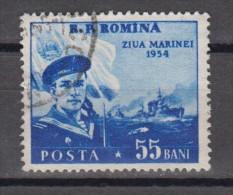 Rumänien; 1954; Michel 1480 O; Tag Der Marine - 1948-.... Republiken