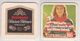 Henninger Bräu Kaiser Pilsner Privat O.R. , Zigaretten R6 Viel Geschmack Mit Leichtem Tabak - Bierdeckel
