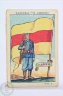Rare 1900´s Trading Card/ Chromo - WWI Baden Flag & Military Uniform - Chocolate