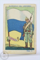 Rare 1900´s Trading Card/ Chromo - WWI Bavaria Flag & Military Uniform - Chocolate