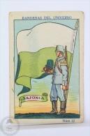 Rare 1900´s Trading Card/ Chromo - WWI Saxony Flag & Military Uniform - Chocolate