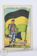 Rare 1900´s Trading Card/ Chromo - WWI Saxe- Weimar Flag & Military Uniform - Chocolate