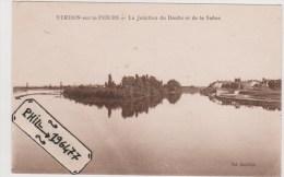 71 Verdun-sur-le-Doubs - Cpa / La Jonction Du Doubs Et De La Saône. - France