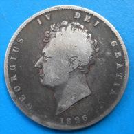 Grande Bretagne Great Britain 1/2 Half Crown 1826km 695 - K. 1/2 Crown