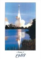AVION 50   CPM   30 Ans  Décollage Lanceur Européen Ariane  15/06/1988  Kourou Guyane - Espace