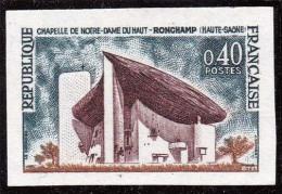 TIMBRE FRANCE NON DENTELE Le Timbre N°1435 CHAPELLE DE NOTRE-DAME DU HAUT à ROMCHAMP - NOUVELLE VA- NEUF SANS CHARNIERES - France
