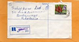 Tjolotjo Rhodesia & Nyasaland 1965 Registered Cover Mailed - Rhodesien (1964-1980)
