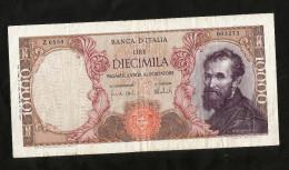 ITALIA - 10000 Lire MICHELANGELO (Firme: Carli / Barbarito - Decr. 15/02/1973) - REPUBBLICA ITALIANA - [ 2] 1946-… : Repubblica