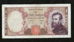 ITALIA - 10000 Lire MICHELANGELO (Firme: Carli / Ripa - Decr. 03 / 07 /1962) - REPUBBLICA ITALIANA - [ 2] 1946-… : Repubblica
