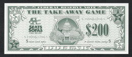 "Spielgeld, Play Money, Nepgeld, Scolaire 145 X 60 Mm, 200 Dollar ""SEATS"", Promotional Note, RRR, UNC - Ohne Zuordnung"