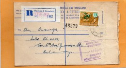 Nkai Rhodesia & Nyasaland 1965 Registered Cover Mailed - Rhodesien (1964-1980)