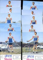 Lot De 10 Photographies Cyclistes équipe Gitane Frigécrème 1973     JA15 26 - Cycling