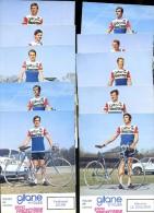 Lot De 10 Photographies Cyclistes équipe Gitane Frigécrème 1973     JA15 26 - Ciclismo