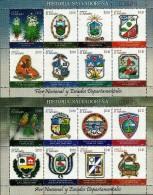 EL SALVADOR NATIONAL SYMBOLS And ARMS Sc 1695-1696 SET Of 2 SHEETS MNH 2009 - El Salvador