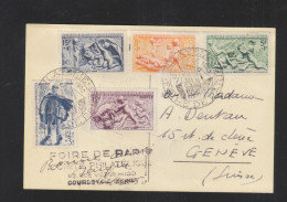 Carte Postale 6e Salon De La Philatelie 1950 - Poststempel (Briefe)