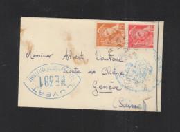 Lettre 1939 Pour Geneve Ouvert - Poststempel (Briefe)