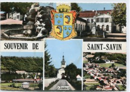 CPSM 38 ST SAVIN SOUVENIR DE ... 1966 Grand Format 15 X 10,5 - France