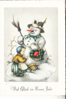 NEUJAHR - Schneemann / Snowman / Bonhomme De Neige / Pupazzo De Neve / Sneeuwpop / Muneco De Nieve - New Year