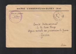 Lettre Mairie D'Amberieu-en-Bugey 1941 - 1921-1960: Periodo Moderno