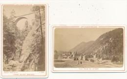 2 PHOTOS - CDV - La Grande Chartreuse - Joguet, Lyon - Oud (voor 1900)