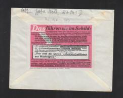 Feldpostbrief 1942 Propaganda Zettel Rückseitig - Duitsland