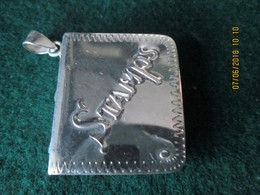ENGLISH HANDMARKED SILVER STAMP BOX  - Original BOOK Design - ORIGINAL VICTORIAN STAMP - Stamp Boxes