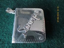 ENGLISH HANDMARKED SILVER STAMP BOX  - Original BOOK Design 925 STERLING 3 X 3,7 Cm - ORIGINAL VICTORIAN STAMP - Stamp Boxes
