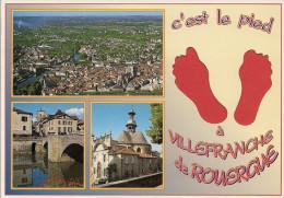 12 -  Carte à Trou, VILLEFRANCHE DE ROUERGUE - Villefranche De Rouergue