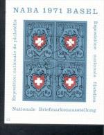 CH# Block 21 Briefmarkenausstellung Naba Basel Used Gestempelt - Blocs & Feuillets